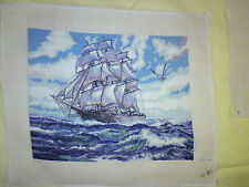 HAND MADE HIGH SEAS PICTURE GOBLEN TAPESTRY,WALL HANGING, COMPLETE, EMBROIDERY
