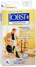 JOBST SupportWear Socks For Men Knee High 8-15 mmHg Black Large 1 Pair