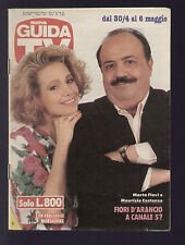 NUOVA GUIDA TV MONDADORI 17/1989 MAURIZIO COSTANZO E MARTA FLAVI PROGRAMMI TV