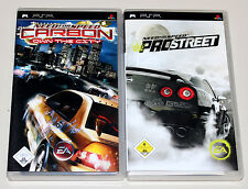 2 PSP SPIELE BUNDLE - NEED FOR SPEED PRO STREET & CARBON OWN THE CITY