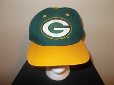 VTG-1990s Green Bay Packers New Era Dupon Visor low profile snapback hat sku14