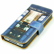 Tardis from Inside Doctor Who Leather Wallet Flip Case Cover For Iphone 5 5s