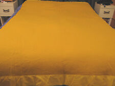 "Vintage SEARS 100% Virgin WOOL BLANKET~Gold~85"" x 58"""