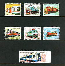 Guinea-Bissau  1989  #795-801  trains locomotives     7v.   MNH  H533