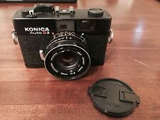 Konica AUTO S3 Rangefinder Film Camera with Lens Cap and Battery for Light Meter