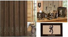 Browning® Buckmark Suede 10 pc Bathroom Accessories Set * HOT NEW DESIGN*
