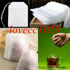 100pcs Empty Teabags String Heat Seal Filter Paper Herb Loose Tea Bags LO