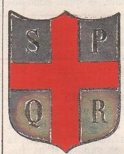 1865 Stemma di Reggio nell'Emilia (araldica civica),  cromolitografia