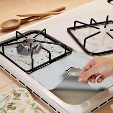 4Pcs Foil Gas Hob Protector Liner Cover Reusable Non Stick Dishwasher Easy Clean