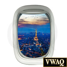 Kids Room Paris Wall Decor Airplane Window Decal Eiffel Tower Wall Art VWAQ-PW11