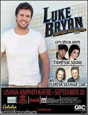 "LUKE BRYAN ""DIRT ROAD DIARIES TOUR 2013"" SALT LAKE CITY CONCERT POSTER - Country"