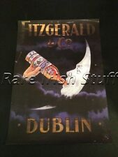 Fitzgerald & Co Dublin - Moon Drinking Irish Whiskey 1930s Pub Advertising Print