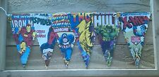 AVENGERS ASSEMBLE BUNTING BANNERS KIDS/CHILDRENS/DAD/PARTY/BOYS/CAVE/BEDROOM