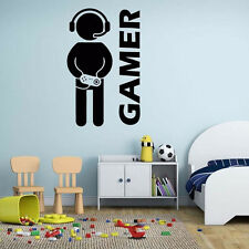 Removable DIY Room Decor Games Gamer Quote Word Decal Vinyl Art Wall Sticker New