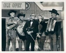 Jack Benny Dinah Shore Unidentified Musicians Grand Ole Opry Press Photo