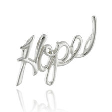 Hope Slider Pendant - 925 Sterling Silver - Script Handwritten Love Gift Faith