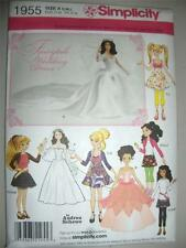 Barbie Doll New Simplicity 1955 Pattern Fairytale Wedding Dress Gown Bratz Moxie