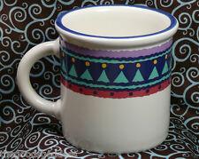 DANSK Carnival Coffee Mug Big Top Circus Tent Tea Cup Dinnerware stoneware blue