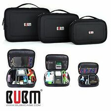 3 x BUBM ACCESORIES STORAGE CARRY BAG CASE FOR USB cable memory card power cord