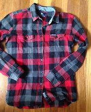 EUC Penfield Madewell Chatham Buffalo Plaid Flannel Check Top M Red Wool