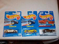 HOT WHEELS  lot x3 Ferrari 348 250 308  bin(20)