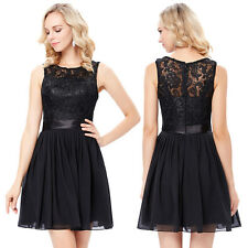 Girls Graduation Cocktail Little Black Dress Formal Evening Party Prom Gowns New