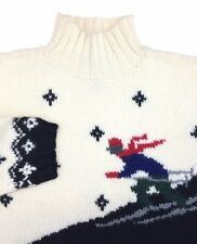 Lauren Ralph Lauren Women's Wool Knit Suicide Skier Turtle Neck Sweater Medium
