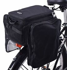 TOURING BIKE REAR CARRIER MULTI PURPOSE CONVERTIBLE 28 LITRE LUGGAGE SET BARGAIN