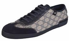 NEW Gucci 204282 GG Plus Coated Canvas Suede Sneakers Trainers Shoes 13.5 U.S.