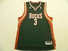 M27 New ADIDAS Milwaukee Bucks Brandon Jennings Green SWINGMAN Jersey MEN'S XL