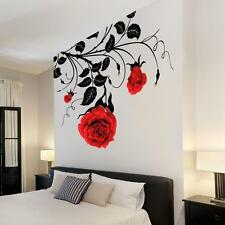 Large Flower Roses Vines Vinyl Wall Art Stickers / Wall Decals / Wall Graphics