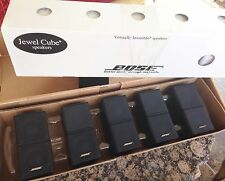 5 Bose Jewel Double Cube Speakers Premium In Black-Great Shape