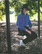 Vintage The King of Pop Michael Jackson On Swing Color Photo