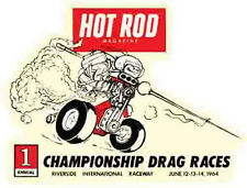 Hot Rod  1964  Drag Races  Decal    Vintage-Looking  Travel Sticker