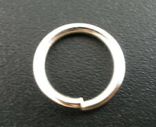 100Pcs Silver Tone Open Jump Rings 12x1.5mm Wholesale SP0057