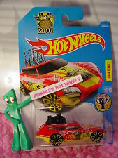 2016 i Hot Wheels TOUR DE FAST #240✰Red/Yellow; black cycle✰HW GAMES✰Case P/Q