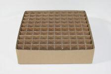 Griglia scomparto Scatola gf70 - 100 scomparti per tubi elettronici ad esempio el84 el86 e80cc ez81