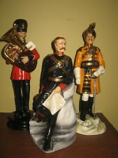 Michael Sutty porcelain figurine - 14th Bengal Lancer, Officer 1890 with dog