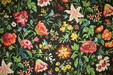 Schumacher Curtain/Upholstery Fabric Design Avondale Floral black 5  metres