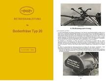Betriebsanleitung Bedienungsanweisung DUZ Bodenfräse Typ 20 IFA DDR Einachser