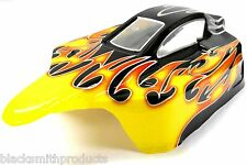 302470 Off Road Nitro Rc 1/10 Escala Buggy Body Shell Smt Flame