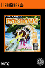 PSYCHOSIS Turbo Grafx 16 Framed Print (Man Cave Picture Game Gaming Poster Art)