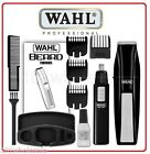 Wahl 5537-1801 Cordless Beard Hair Trimmer Clipper Styler + Ear Nose Brow Cutter