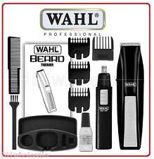 Wahl 5537-1801 Cordless Beard Hair Trimmer Clipper Styler + Ear Nose Brow Cutter