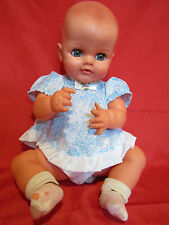 """Regal Toy Vintage Doll 19"""" Baby Sleep Closing Eyes, Molded Hair Made in Canada"""