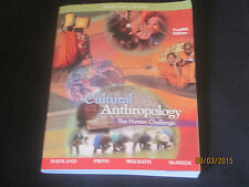Cultural Antropology 12th Edition INSTRUCTOR'S pb college textbook N1