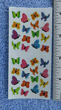 Sandylion BUTTERFLY MICRO PRISM Strip of 2 Sq Sticker RETIRED OUT OF PRINT RARE