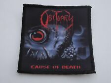 OBITUARY CAUSE OF DEATH SUBLIMATED PATCH