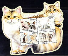 Guine Bi. MNH Odd Shape SS, Cats, Esfinge, Mau egipcio, Domestic animals