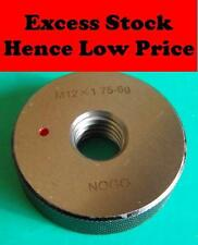 M12 x1.75 Screw Thread Ring Gauge NoGo 6g ...... NEW........Quality no go